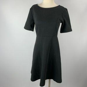 Ann Taylor Sz 6 Black Dress Thick Waffle Pattern